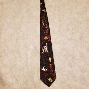 Vintage Looney Tunes Neck Tie Bugs Bunny Taz Daffy